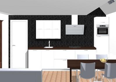 Rechte keuken van 3 meter 30